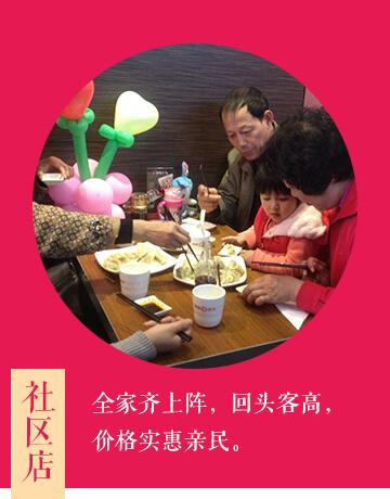 惠美饺子加盟选址之社区店