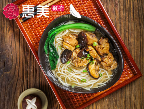 惠美饺子美食推荐-香菇鸡块面