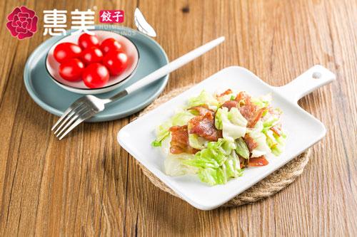 惠美饺子美食推荐-培根卷心菜