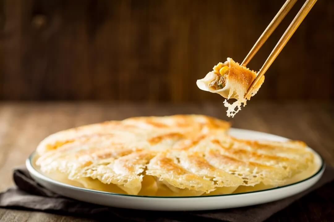 玉米猪肉煎饺