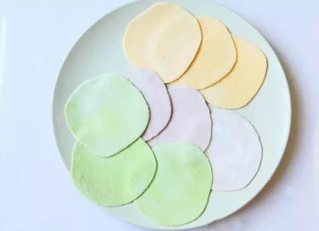 五彩饺子皮