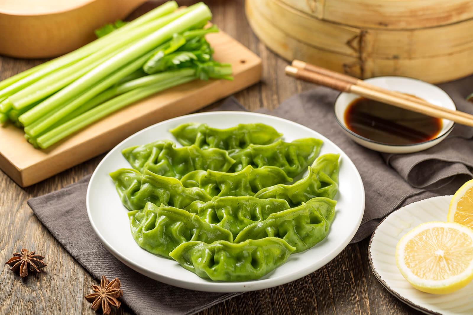绿皮芹菜肉水饺