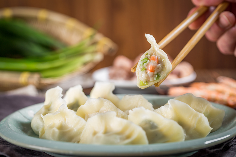 手工虾仁肉水饺